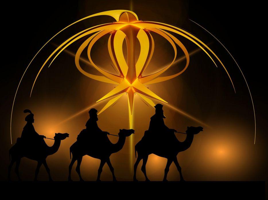 Advent Star Holy Three Kings Kings Camel Christmas wallpaper