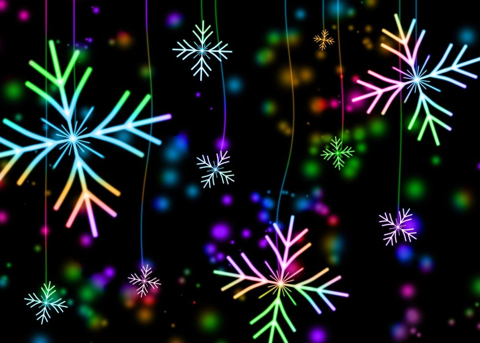 Snowflakes Snow Winter Christmas Holiday December wallpaper