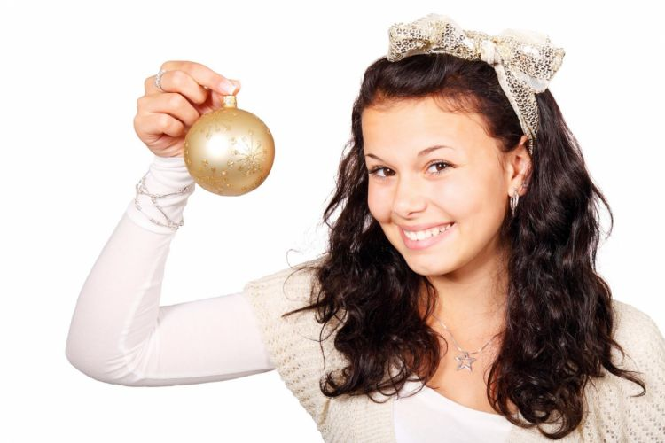 Ball Bauble Christmas Decoration Female Girl wallpaper
