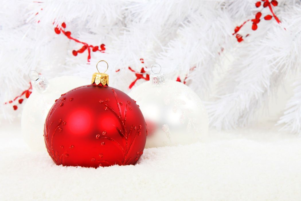 Christmas Bauble Red Ball Celebration Christmas wallpaper
