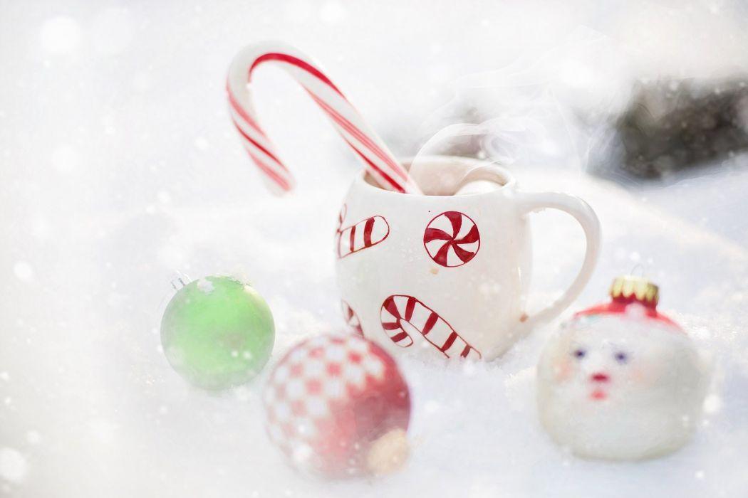 Hot Chocolate Snow Christmas Hot Drink Winter wallpaper