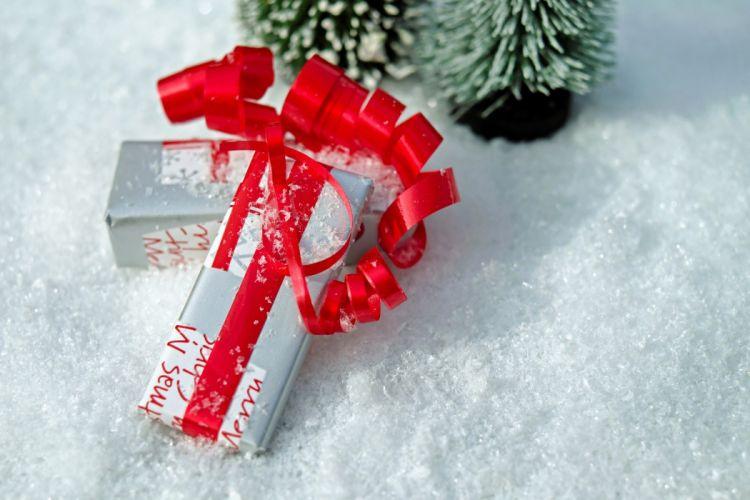 Gift Package Loop Red Made Packed Packaging wallpaper