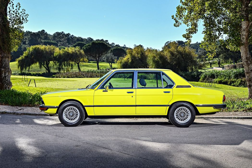 BMW 528 Automatic cars yellow Sedan (E12) 1974 wallpaper