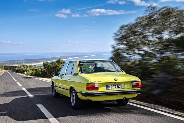 BMW 528 Automatic cars yellow Sedan (E12) 1974 wallpaper
