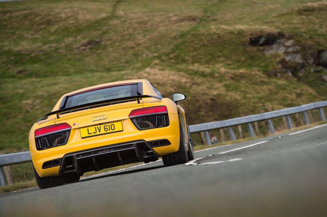 Audi-R8 V10 Plus UK-spec cars yellow 2015 wallpaper