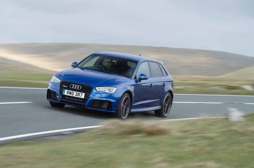 Audi RS3 Sportback UK-spec cars blue 2015 wallpaper