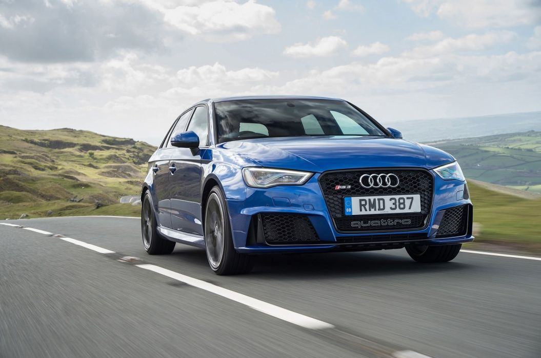 Audi RS3 Sportback UK-spec cars blue 2015 wallpaper