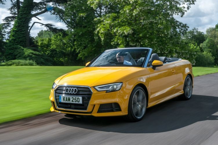 Audi (A3) Cabriolet TFSI S-line UK-spec cars yellow 2016 wallpaper