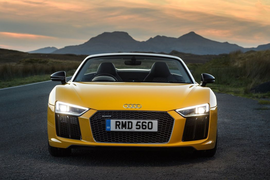 Audi (R8) Spyder V10 UK-spec cars 2016 wallpaper