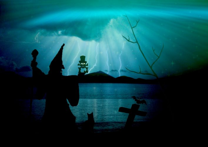 Magician The Witch Creepy Weird Flashes wallpaper
