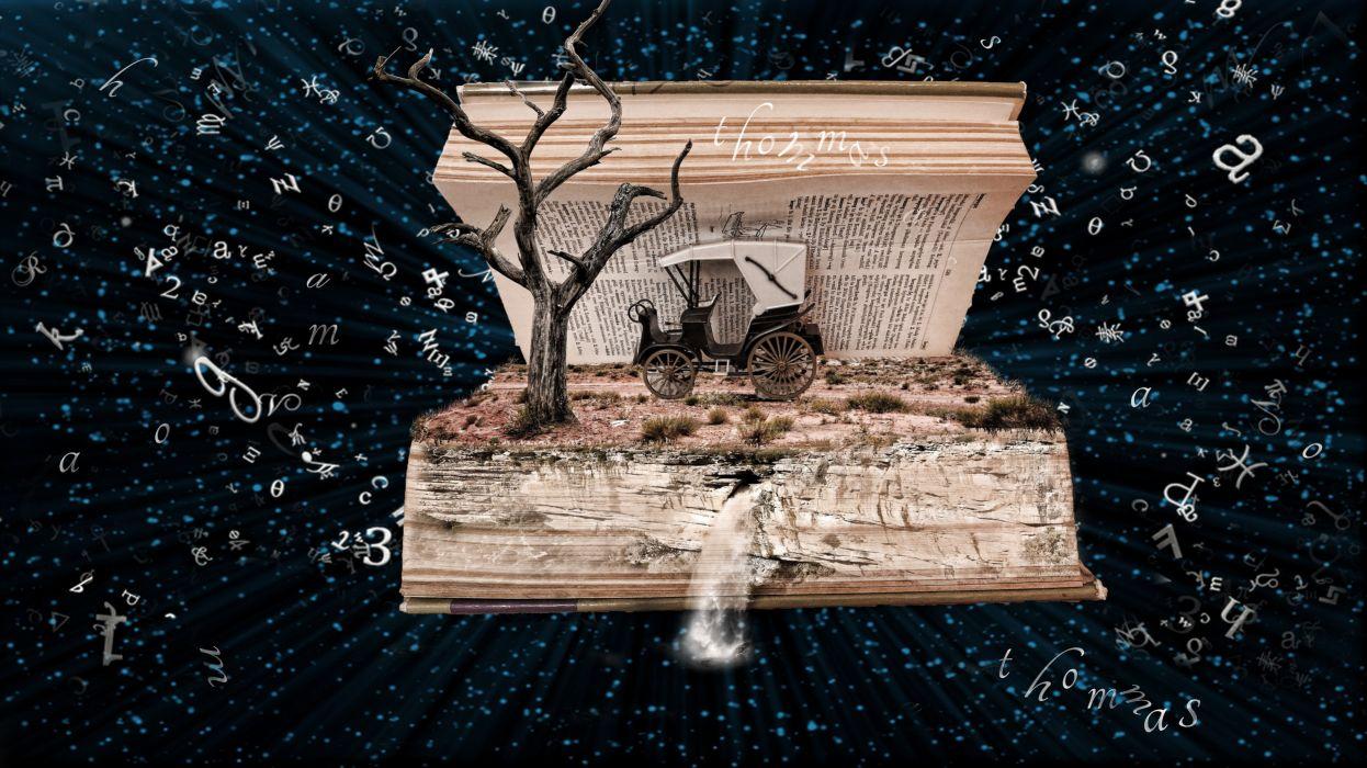 Book Photoshop Fantasy Manipulation wallpaper