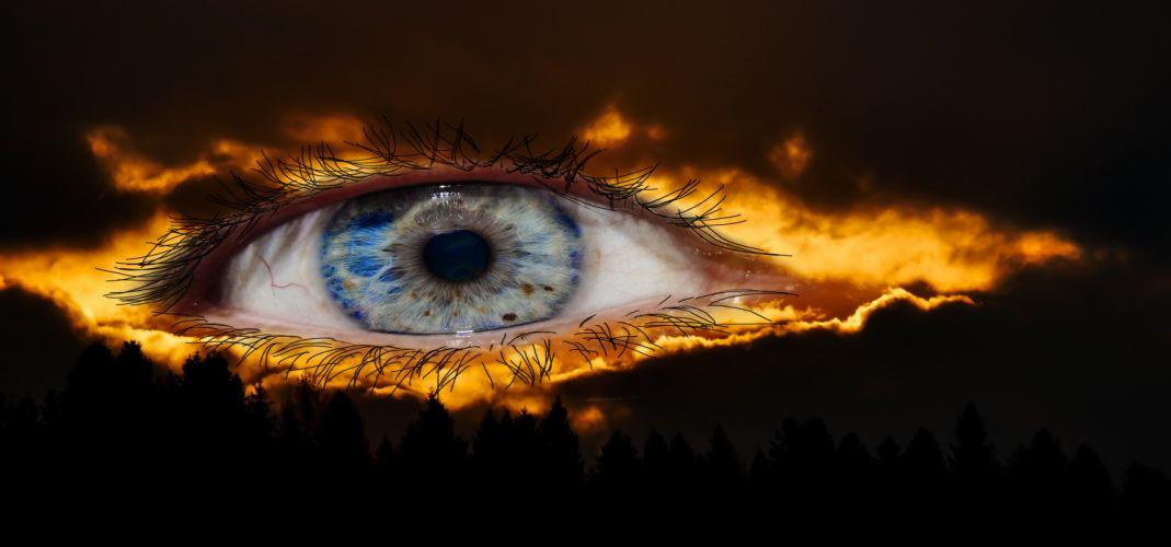 Surreal Eye Fantasy Mysterious Halloween Lighting wallpaper