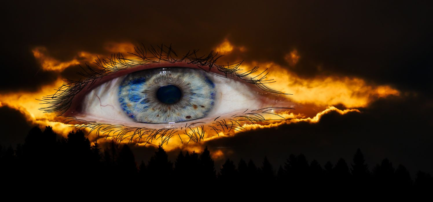 Surreal Eye Fantasy Mysterious Halloween Lighting wallpaper