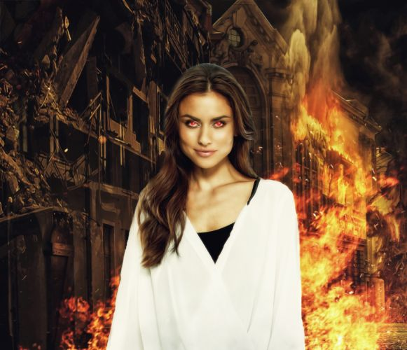 Fantasy Woman Fire Eyes Female Fantasy Fantasy Girl wallpaper