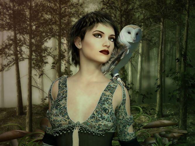 Female Fantasy Woman Woman Lady Fantasy Character wallpaper