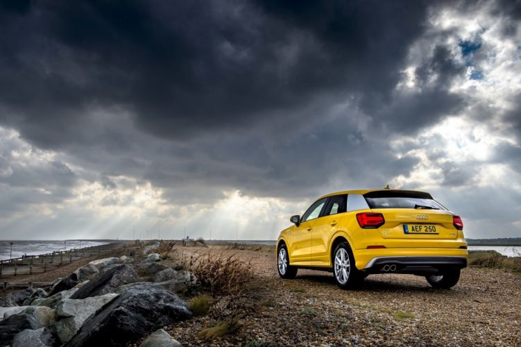 Audi (Q2) TFSI S-line UK-spec cars suv yellow 2016 wallpaper