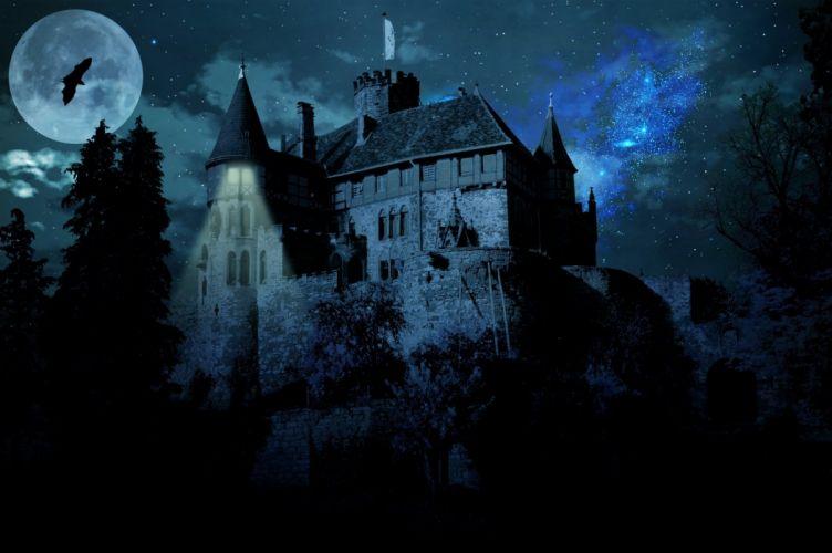 Haunted Castle Ghost Castle Castle Darkness wallpaper