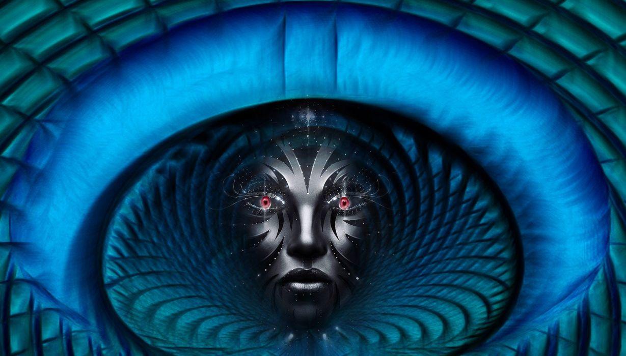 Fantasy Mystikfaces Face Mask Zombie Art robot cyborg wallpaper