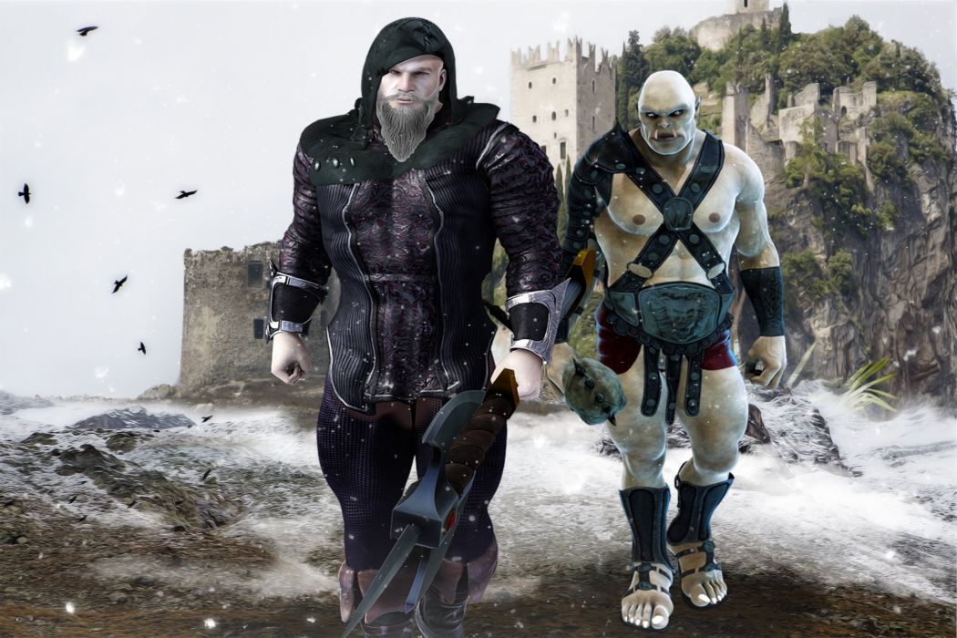 Warrior And Orc Fantasy Warrior Orc Barbarian wallpaper