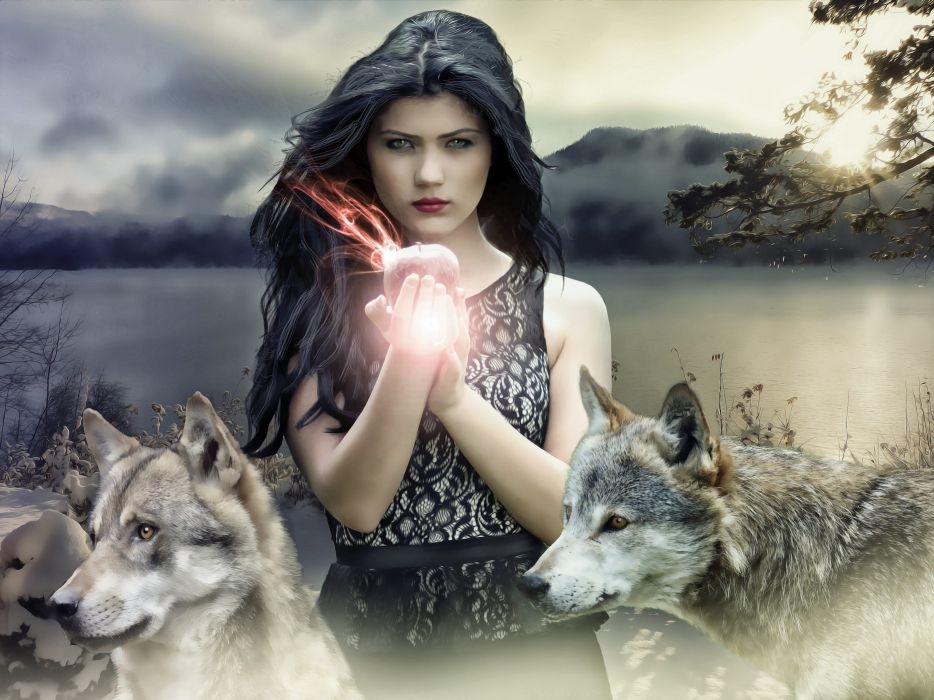 Gothic Fantasy Dark Female Witch Fantasy Girl wallpaper
