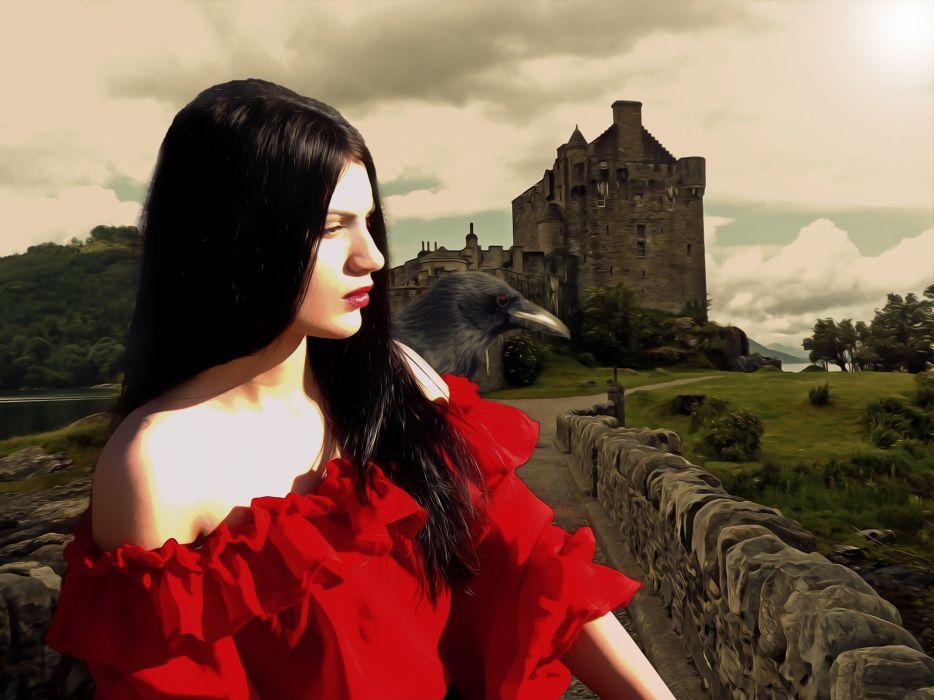 Gothic Fantasy Medieval Female Medieval Lady wallpaper