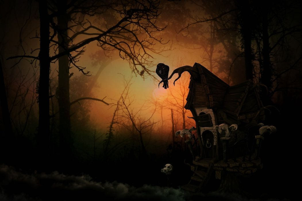Witch House Creepy Forest Weird Mood Mystical wallpaper