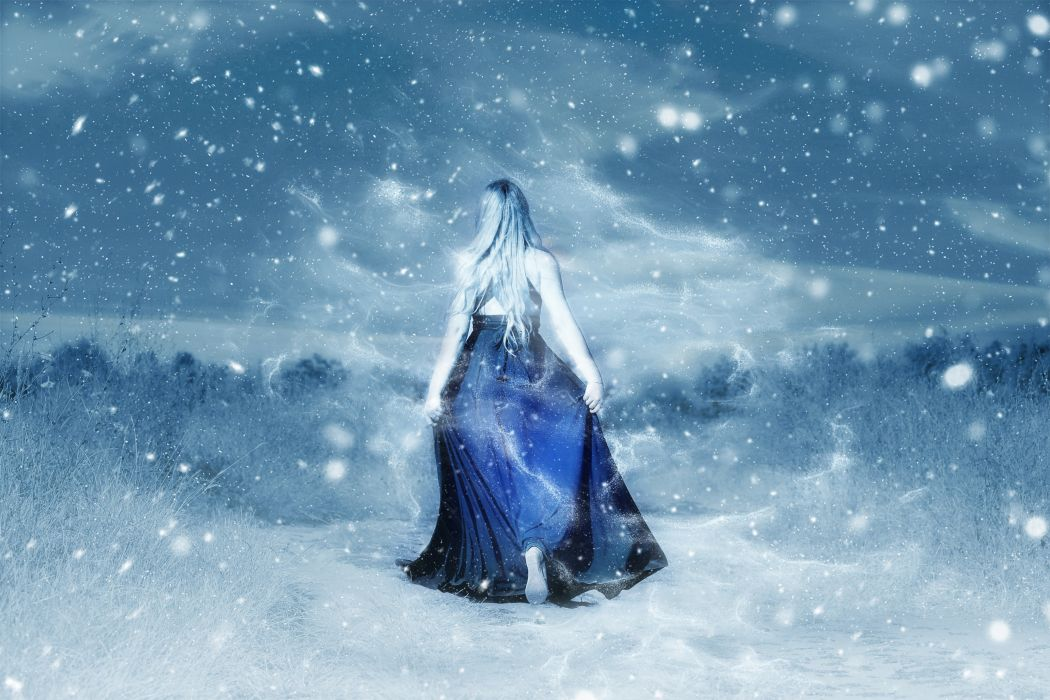 Girl Woman Young Female Person Winter gothic wallpaper