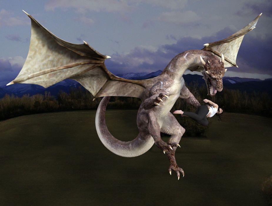Dragon Monster Fantasy Creature Wings Flying wallpaper