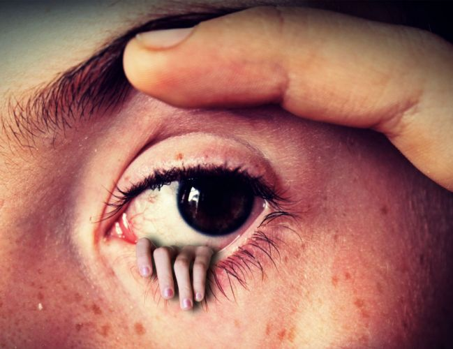 Eye Hand Fantasy Horror Finger Face Eyebrow wallpaper