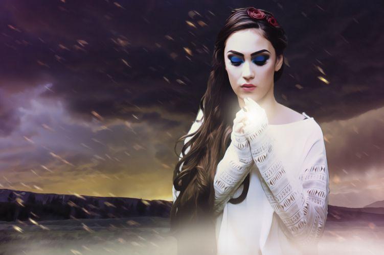 Fantasy Fantasy Woman Fantasy Girl Female Dark magic wallpaper