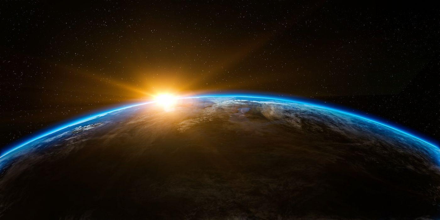 Sunrise Space Outer Globe World Earth Sun Rise wallpaper