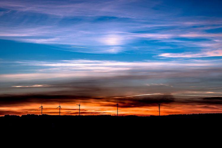 Sunset Setting Sun Evening Sky Sky Abendstimmung wallpaper