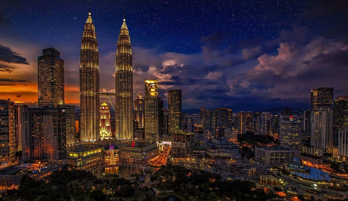 Kuala Lumpur Twins Malaysia Petronas Twin Towers wallpaper