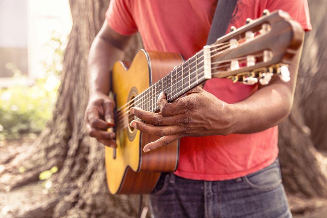 Guitar Music Man Play Strum Chord Acoustic wallpaper