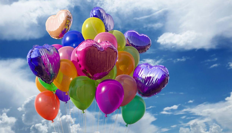 Balls Balloon Balloons Rubber Plastic Fly Helium heart wallpaper