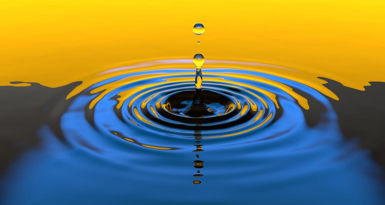 Water Drop Liquid Splash Wet Clean Clear Falling wallpaper