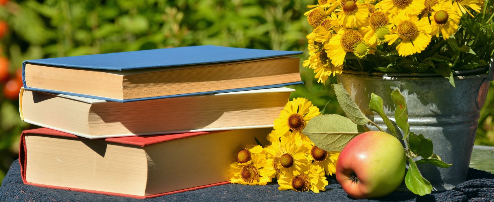 Books Read Garden Sun Brews Apple Literature wallpaper