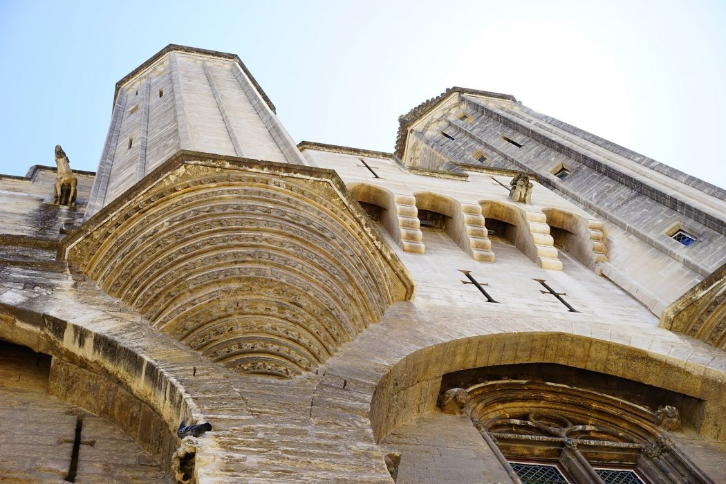 Palais Des Papes Building Architecture Corner Tower wallpaper