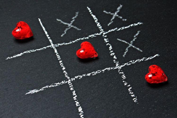 Tic Tac Toe Love Heart Play Ankreuzen wallpaper