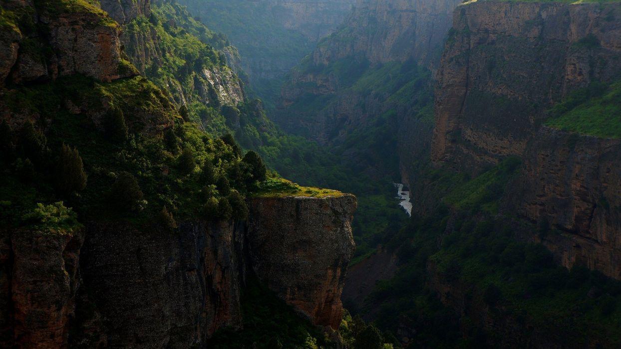 River Canyon Rocks Rock Nature Evening Landscape wallpaper