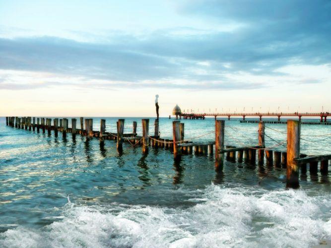Baltic Sea Beach Sea Coast Mood wallpaper