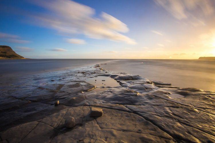 Dorset Bay Sunset Coast Sea England wallpaper