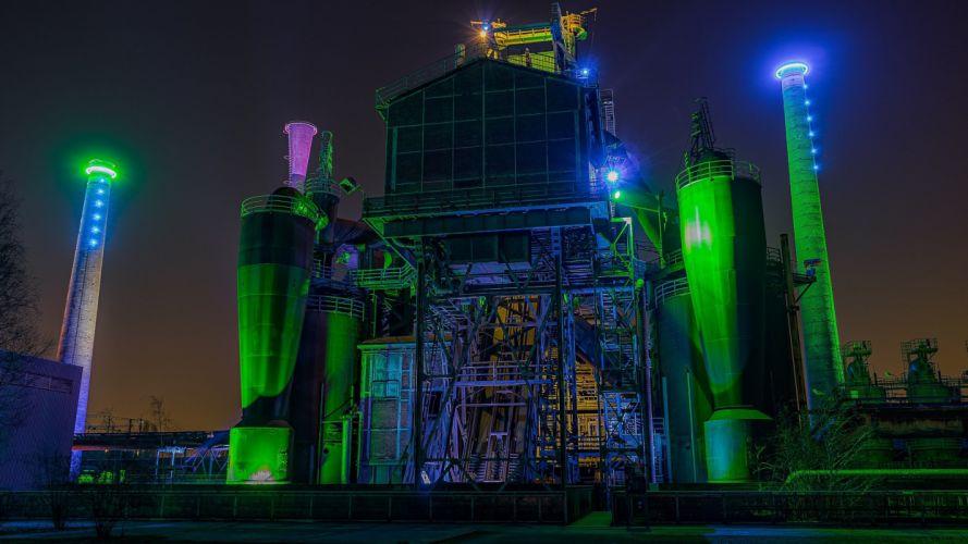 Lapadu Duisburg Landscape Park Long Shutter factory neon wallpaper