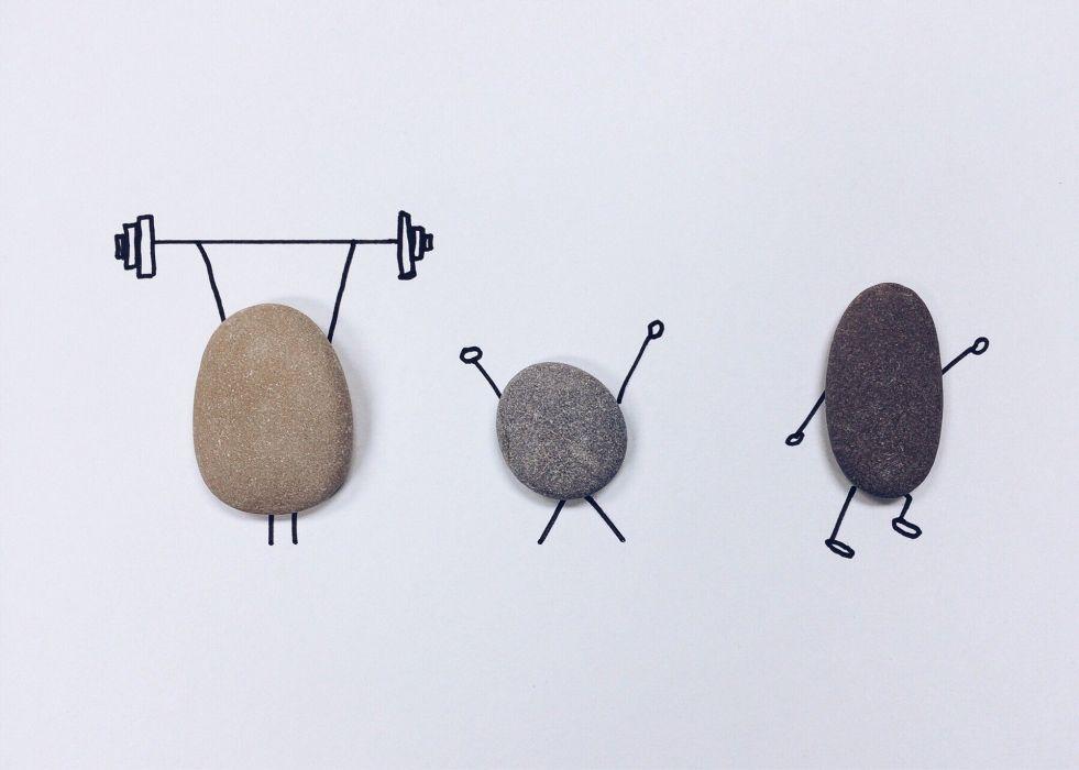 Rock Art Craft Wellness Workout Fitness wallpaper