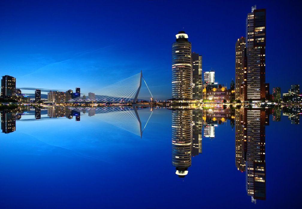 Rotterdam Skyline Architecture Netherlands City wallpaper