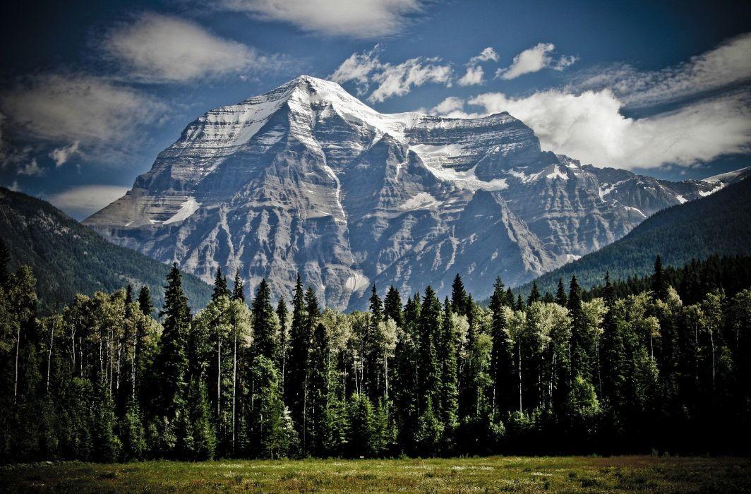 Mountain Peak Mountain Range Mountain Top Outdoor forest wallpaper