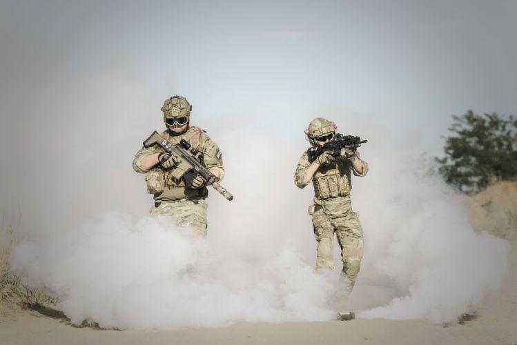 War Desert Gun Soldier Action Smoke military wallpaper