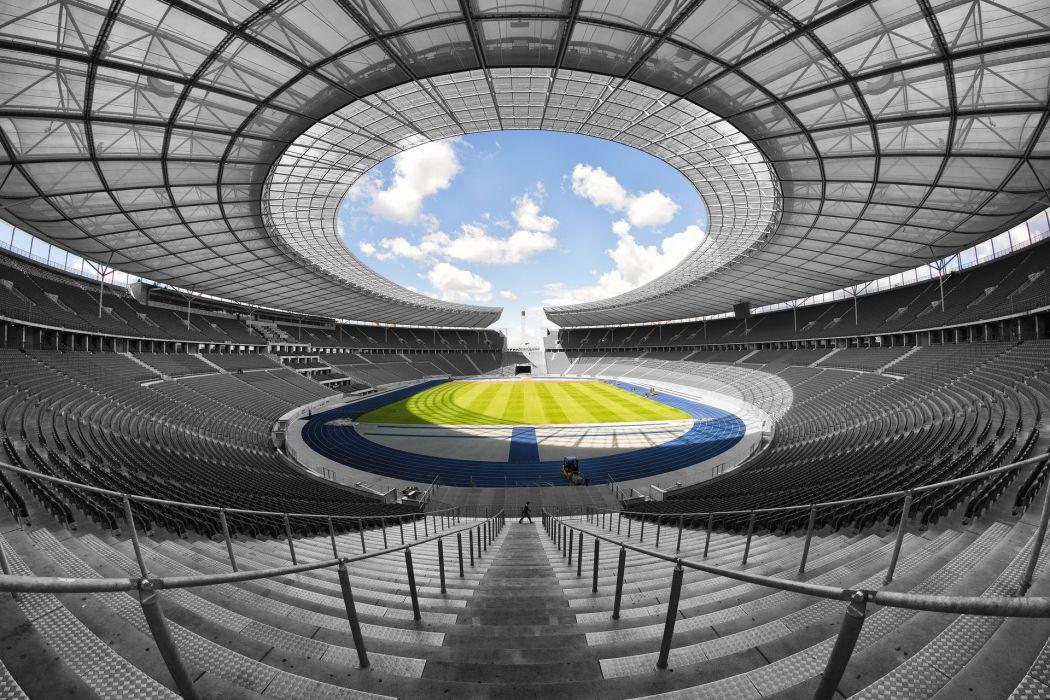 Olympic Stadium Berlin 1936 Symmetrical Interior wallpaper