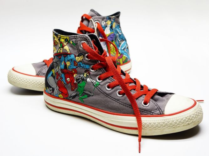 Shoe Canvas Sneakers Casual Converse SuperHero hero comics wallpaper