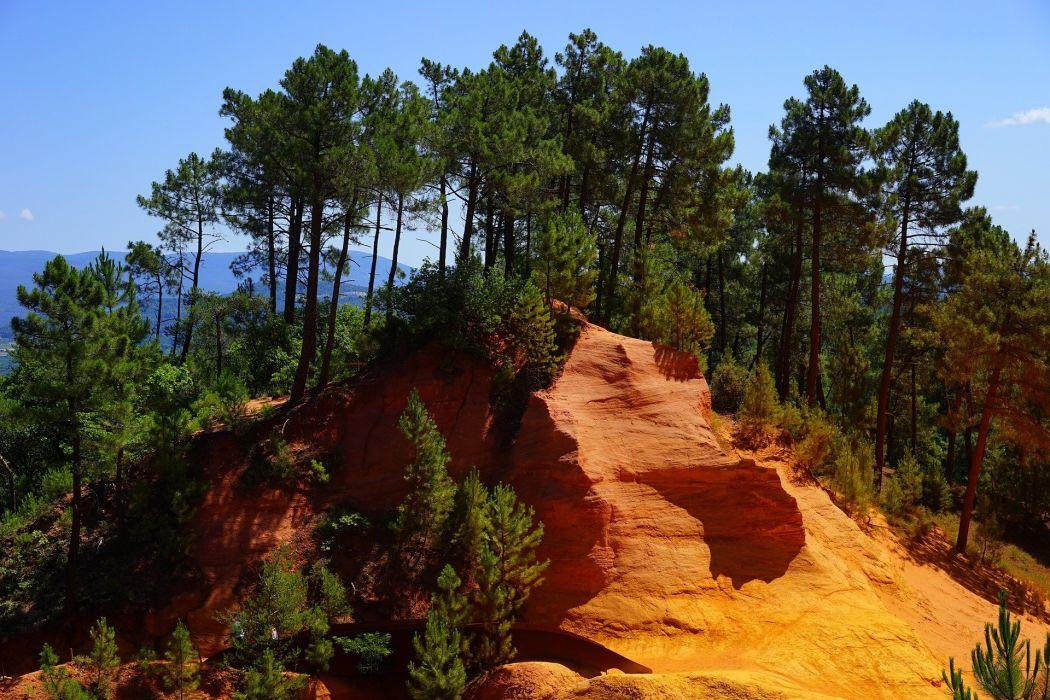 Roussillon Ocher Trail Sentier Des Ocres forest mountain wallpaper